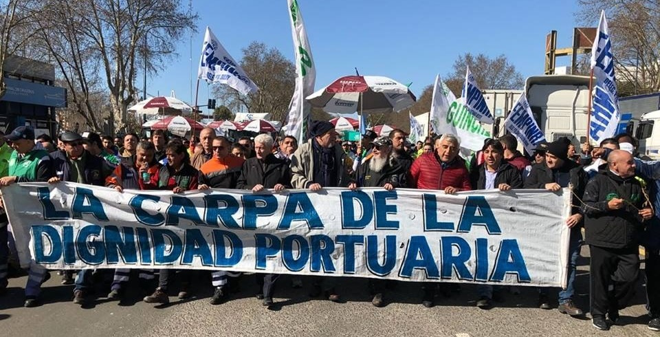 FEMPINRA members go on a 5-day strike at the Port of Buenos Aires